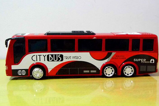 1:24 Large Scale Plastics Red / Blue Kids City Bus Toy