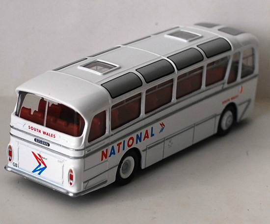 1:76 Scale White EFE Harrington Cavalier South Wales Bus Model