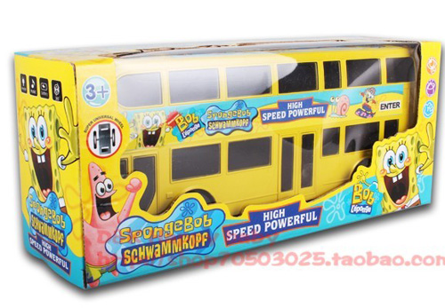 Kids White / Blue / Yellow /Green Electric Double-decker Bus Toy