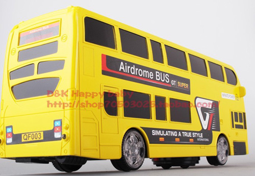 Yellow Kids Electric Double-deck Bus Toy