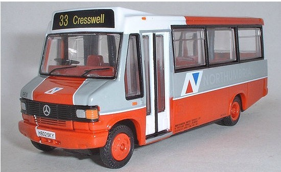 1:76 Scale Orange Northumbria Mercedes Benz Bus Model