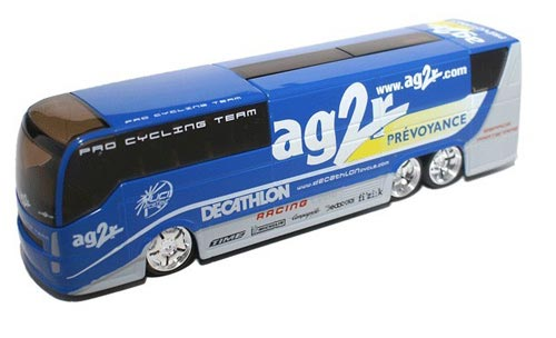 1:50 Scale Blue TOUR DE FRANCE AG 2 Bus Model