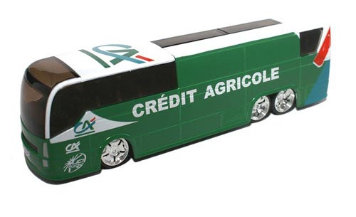 Green 1:50 Scale TOUR DE FRANCE CREDIT AGRICOLE Bus Model