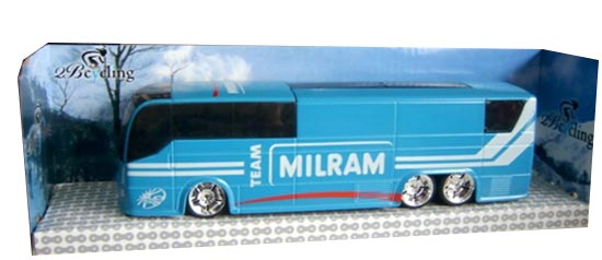 1:50 Scale Blue TOUR DE FRANCE MILRAM Team Bus Model
