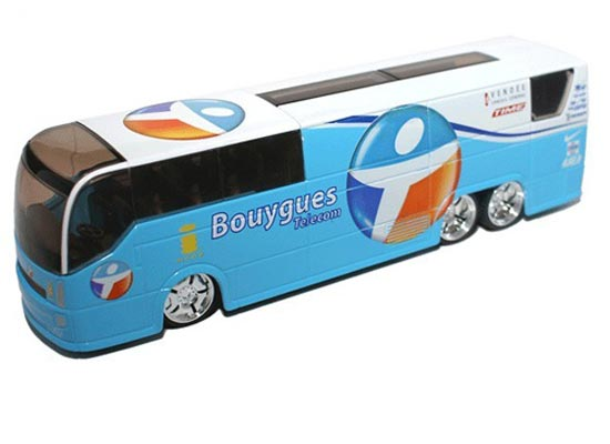 Blue 1:50 Scale TOUR DE FRANCE Bouygues Bus Model