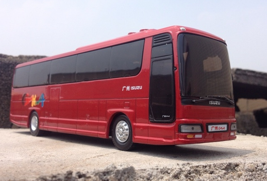 1:50 Scale Red Isuzu Buses Model