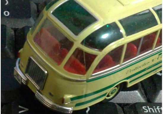 1:87 Scale Red / Yellow Schuco SETRA Bus Model