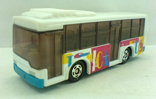 Mini Scale White TOMY NO.93 Route Mitsubishi Bus Toy