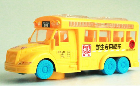 Yellow Kids Plastics Made Electric School Bus Toy