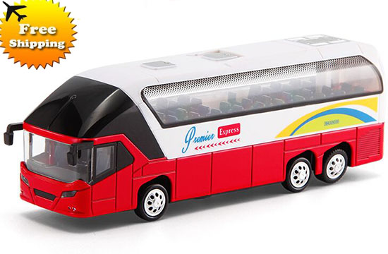 Kids Yellow / Red / Orange Luxury Die-cast Coach Bus Toy