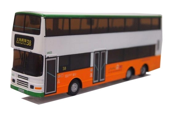 1:64 Scale Hong Kong Volvo Olympian Double-decker R/C Bus Toy