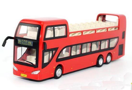 Kids Blue / Red / Green / Yellow BeiJing Double-Decker Bus Toy