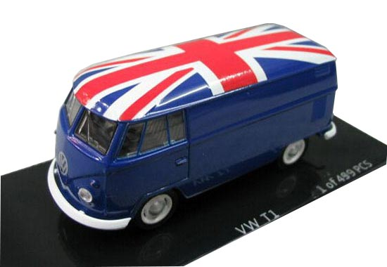 1:64 Scale KYOSHO Brand Red / White / Blue VW T1 VAN Model
