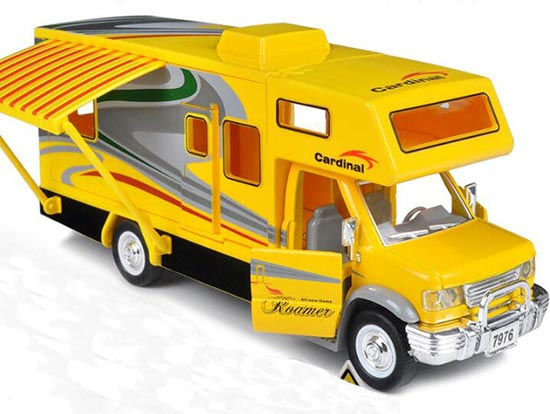 Kids Black / White / Yellow Motor Homes Tour Bus Toy