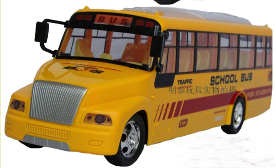Full Function Kids Large Scale Yellow R/C School Bus Toy