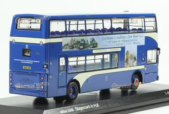 1:76 Scale Blue CMNL Dennis NO. 51 Double-Decker Bus Model