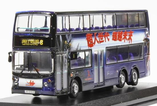 1:76 Scale Purple CMNL NO.8 Route Hong Kong Alexander Dennis Bus