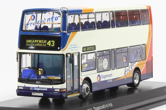 1:76 Scale White CMNL Britain Dennis Double-Decker Bus Model