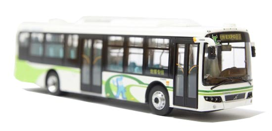 1:76 Scale White CMNL ShangHai World EXPO City Bus Model