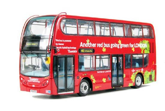 1:76 Scale Red CMNL Britain ENVIRO400 Double-Decker Bus Model