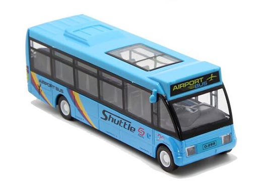 Kids White / Blue / Green Pull-Back Function City Bus Toy