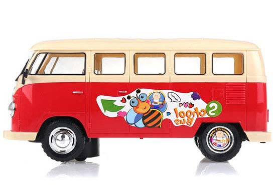 Kids Red / Green Plastics Electric Music Bus Toy