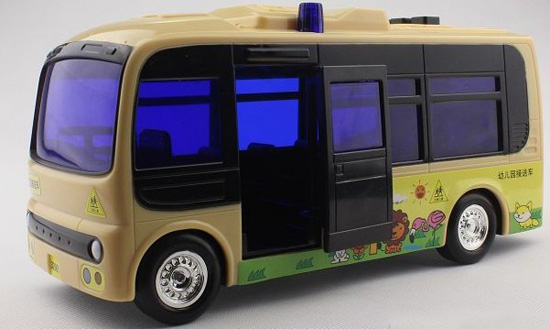 Kids Gray Plastics Electric School Bus Toy