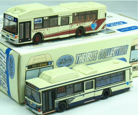 White Mini Scale Nagoya Road Transport Bureau City Bus Model