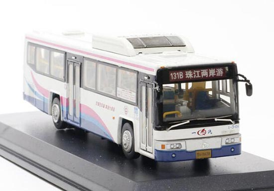 1:76 Scale White Rv-model GuangZhou City Bus Model