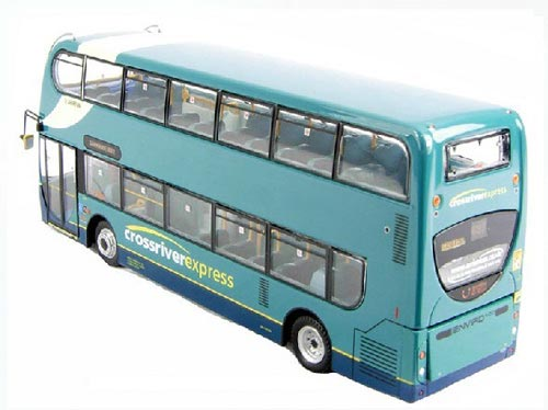 Blue 1:76 Scale CMNL E400 Dennis Double-Decker Bus Model