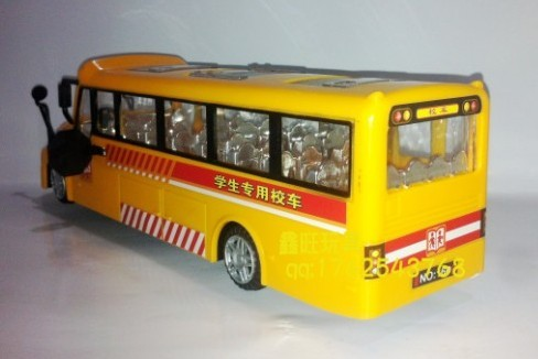 Kids Plastics Made Bright Yellow Electric School Bus Toy