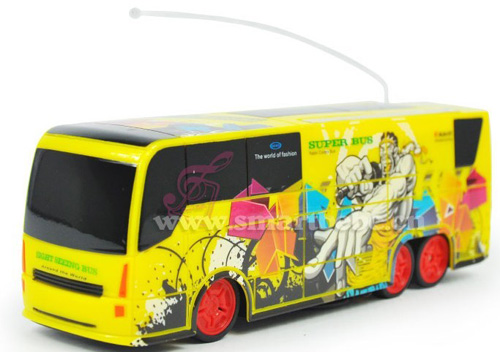 Kids Plastics Yellow Super Functions R/C Tour Bus Toy
