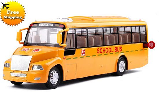 Kids Yellow 1:50 Scale Big Nose School Bus Toy