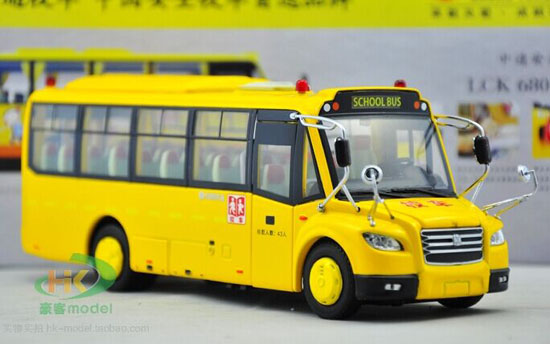 1:43 Scale Yellow Die-Cast School Bus Model