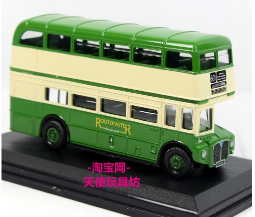 Green 1:76 Scale Oxford British double-decker Bus Model
