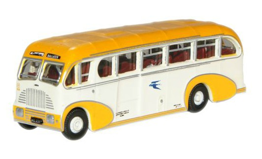 Mini Scale Yellow-White Oxford Boeblingen Bus Model