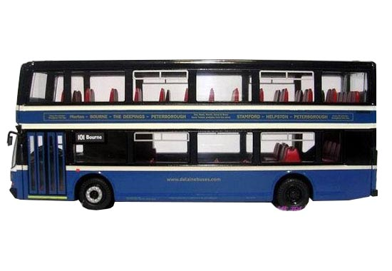 1:76 Scale Deep Blue Corgi VOLVO Double-decker Bus Model
