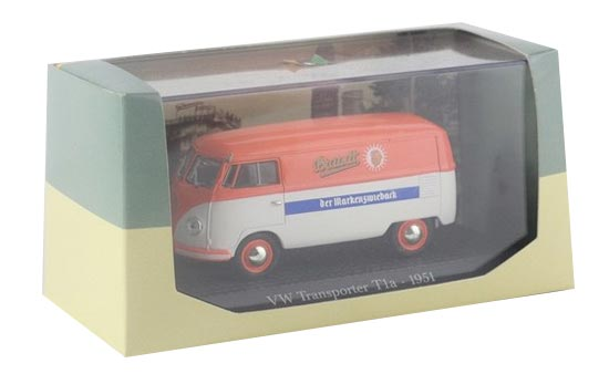 1:43 Scale Orange-White VW Transporter T1a 1951 Bus Model