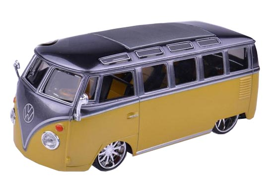 1:24 Scale Gray / Yellow VW Van Samba Model