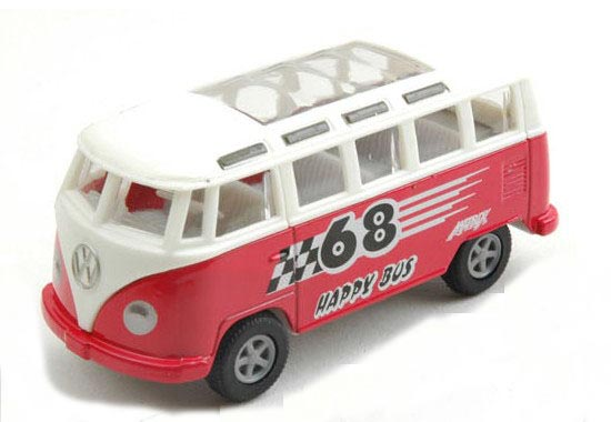 Kids 1:43 Scale Blue / Red / Purple / Green VW Bus Toy
