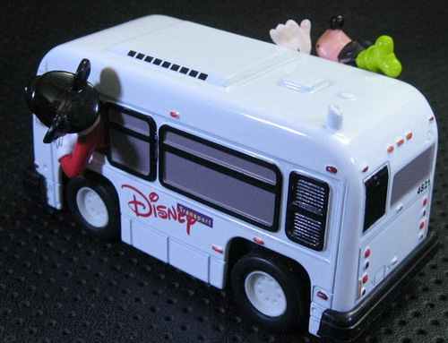 Kids White Mickey Mouse And Donald Duck Die-cast Bus Toy