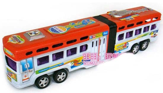 Red / Green Kids Large Scale Articulated Bus Toy