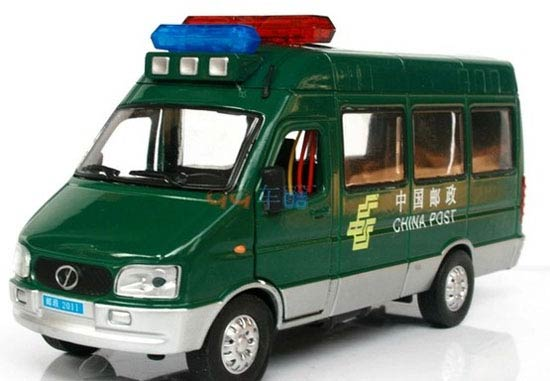 Kids 1:32 Scale Green China Post Iveco Bus Toy