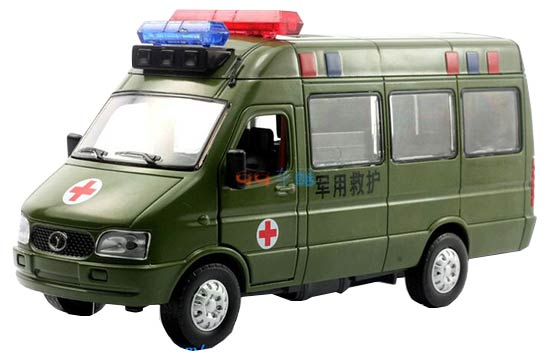 Army Green 1:32 Scale Iveco Military Ambulance Bus Toy