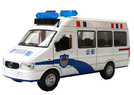 1:32 Scale Kids White Iveco Police Theme Bus Toy