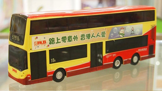 Full Functions Red R/C Hong Kong Double-deck Bus Toy