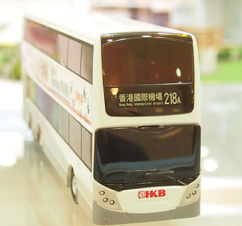 Gray Full Function R/C Hong Kong Double-deck Bus Toy