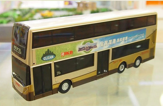 NO.28 A Gray Full Function R/C Hong Kong Double-deck Bus Toy