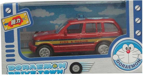 Kids Mini Scale Red Doraemon Fire Rescue Car Toy