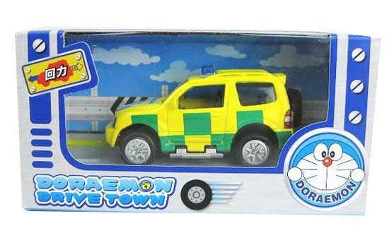 Kids Mini Scale Yellow-Green Doraemon Theme Car Toy